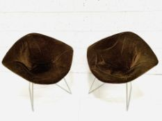 Two Harry Bertoia diamond chairs