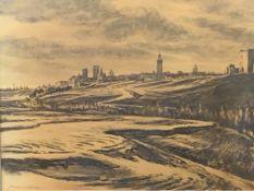 Sir Muirhead Bone (1876-1953). Framed and glazed watercolour of 'Old Spain' between the wars