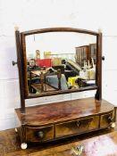 Inlaid mahogany veneer toilet mirror