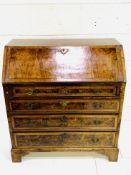 Georgian mahogany veneer bureau
