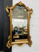 Regency style gilt framed wall mirror