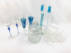 A collection of drinking glasses