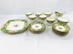 Paragon china 'Pompadour' tea set