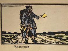 "Jack Butler Yeats (1871-1957), hand coloured woodblock prints entitled ""The Bog Road"""