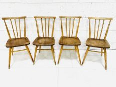 A group of four 1950s Ercol dining chairs