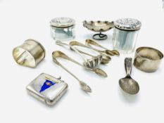 A number of silver items