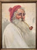 Three oil portraits