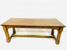 Oak refectory style table