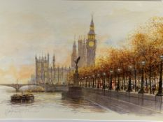 A pair of framed and glazed watercolours by late British/Russian artist Alex Jawdokimov
