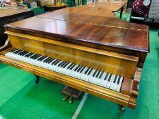 A mahogany cased small grand piano by Hagspiel & Company