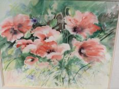 Two framed and glazed watercolours signed J Robertson, exhibited on Hollywood Road