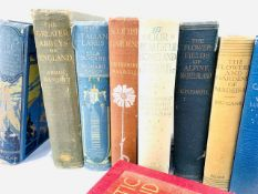 Eleven volumes of various titles all with colour plates