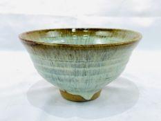 Art pottery glazed bowl