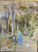 Frederick George Coleridge (1840-1925). Framed and glazed watercolour