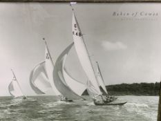 """Framed and glazed print of a photograph by Beken of Cowes """"Six Metre Class, 1948"""