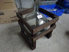 Glass bottle jar.