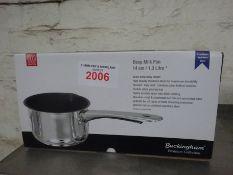 Deep milk pan