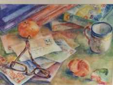 Two framed and glazed watercolours by Fiona Goldbacher