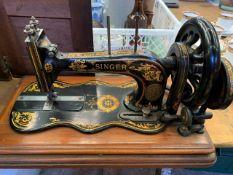 Victorian manual Singer sewing machine