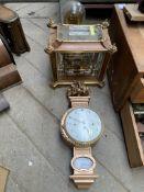 Anniversary clock; skeleton clock; French style wall clock.