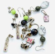 Ten various pairs of earrings