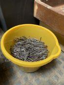 A quantity of 10cm nails