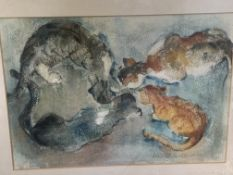 Four framed and glazed watercolours by Fiona Goldbacher