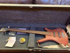 Warwick Corvette wooden electric bass guitar