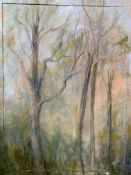 Framed oil on canvas by Fiona Goldbacher.