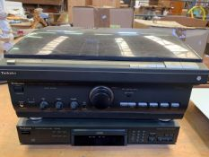 Technics SL-L1 turntable, A600 Mark 3 amplifier, and SL-PG3 CD player