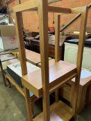 Oak laminate display shelf unit