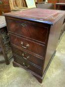 Mahogany two drawer filing cabinet
