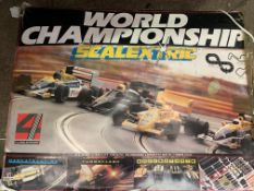 Two boxed Scalextric; together with a quantity of Scalextric track and accessories