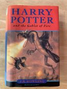 Harry Potter and the Goblet of Fire, by J K Rowling, First Edition, hardback with dust jacket.