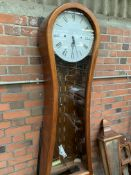Inlaid mahogany long case clock