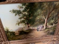 Decorative gilt framed oleograph