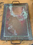 Arts and Crafts hammered copper tray by John Pearson