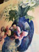 Three framed and glazed watercolours by Fiona Goldbacher.