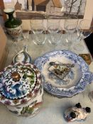 A quantity of miscellaneous china and glass
