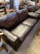Dark brown leather sofa by Wade Additions