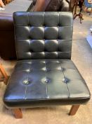 1970's style button back faux leather chair