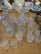 Collection of cut glass