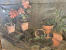 Three oils on canvas by Fiona Goldbacher