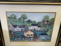 Two framed and glazed prints by Deborah K. Mayo