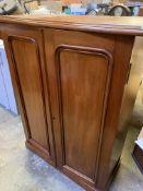 Mahogany two door floor-standing cabinet