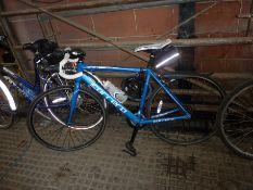 Carrera Zelos road bike and helmet
