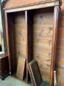 Mahogany open bookcase