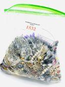 Large bag of costume jewellery