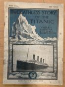 """Magazine entitled """"The Deathless Story of the Titanic"""" issued by Lloyd's Weekly News"""
