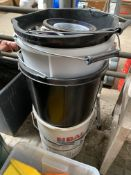 Quantity of buckets and other items